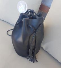 ACCESORRIES bucket kožna torba / s etiketom