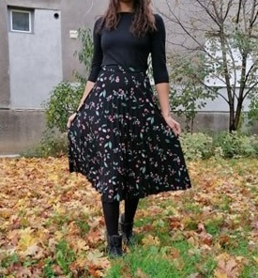 Maxi cvijetna suknja