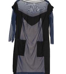 Zanimljiva haljina plus size - mix materijala