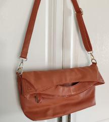 Zagasito narančasta kožna torba