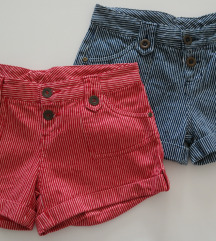 34 36 kratke hlače crvene i plave