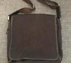 UNISEX smeđa kožna torba BONIA
