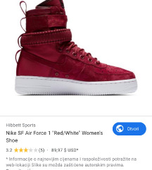 Tražim Nike air force 1 crvene