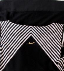 %% Twin set crno bijela pletena haljina S