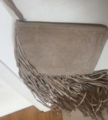 ZARA torbica od brušene kože