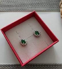 Nove zelene srebrne naušnice