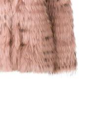 TWINSET roza krznena jakna / bunda