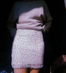 H&M mini suknja sa šljokicama S/M