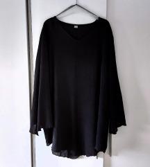 Crna svecana leprsava tunika bluza