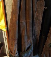 Zimska topla jakna od prave kože, veličina 48-50