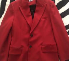 Zara crveni blazer