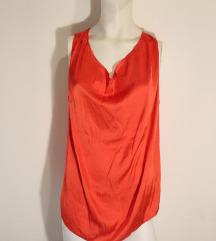 mango svilena crvena majica bez rukava