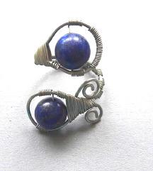 Unikatni prsten od žice i lapis lazulija