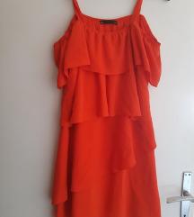 LOT - crvena haljina + haljina sa točkicama