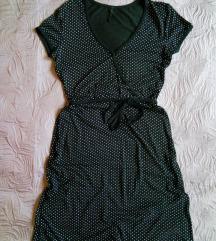 Crna haljina s točkicama