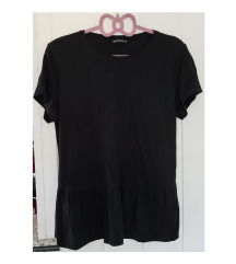 Terranova crna peplum majica