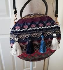 Nova okrugla torba s resama plava