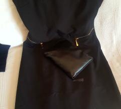 Haljina ,,crna mala,, sa zlatnim cifovima