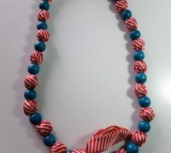 Crveno-plava ogrlica (uklj. poštarina)