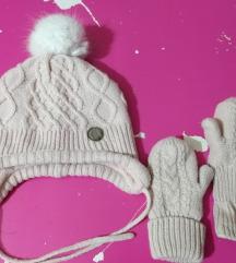 H&M kompletic-kapa+rukavice