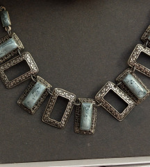 NOVO unikat ogrlica metalna legura