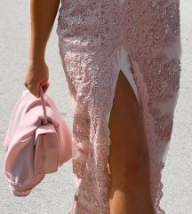 Roza haljina 34/xs