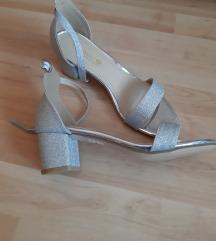 Srebrne sandale NOVO