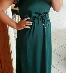 NOVA zelena duga haljina, plaćena 40e
