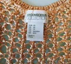 Zlatna pletena majica