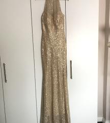 Svečana zlatna haljina S/M