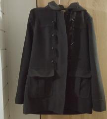 Tamnosivi kaput s kapuljačom