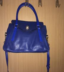 Karen Millen plava kožna torba