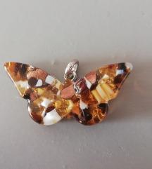 Murano leptir privjesak