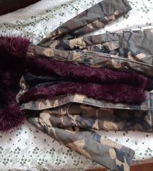 Parka jakna zimska sa krznom S/M