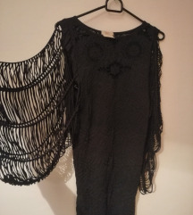 Crna kratka koktel haljina