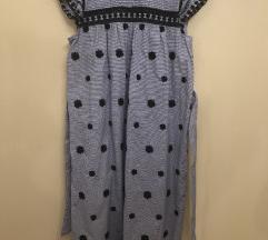 Zara pamučna haljina s vezom