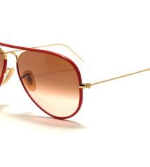 Naočale Aviator red frame