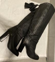 Zara crne kožne čizme 38
