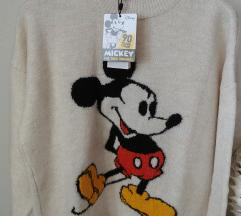 Stradivarius Mickey mouse disney majica pulover