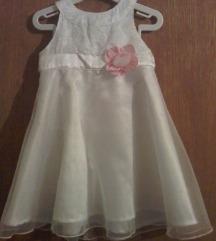 Svečana bijela haljinica za krštenje 74/80