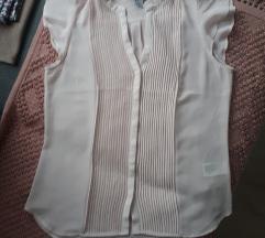 h&m puder roza košulja bluza S vel