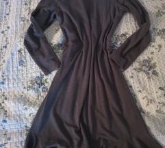 Zara siva midi volan haljina