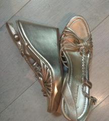 Bally zlatne sandale platforme 40,5(41)