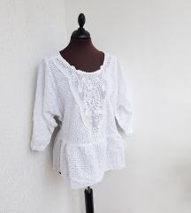 ZARA bijela izvezena bluza / crochet