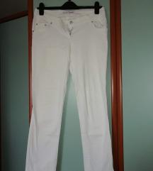 Ženske bijele crop hlače