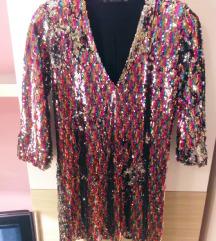 Šljokičasta haljina A kroja - Zara