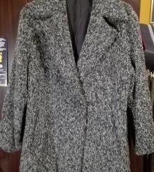 %%Vintage sivi kaput 40-42