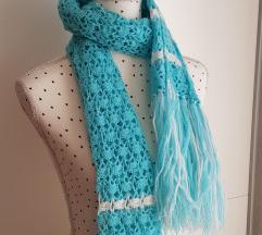 Novi plavo-tirkizni vuneni šal