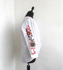Bijela pamučna košulja - izvezena