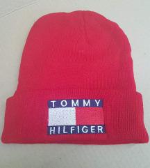 Crvena topla kapa Tommy Hilfiger